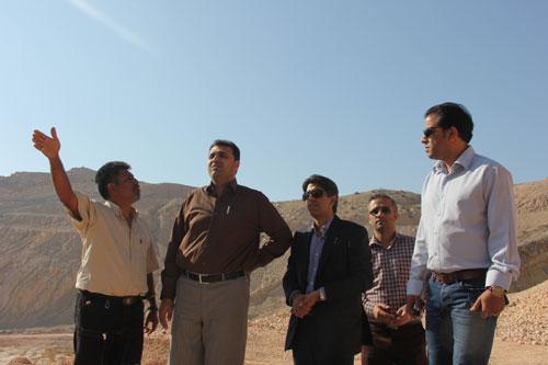 بازدید رئیس سازمان از معدن سنگ آهک انگوران