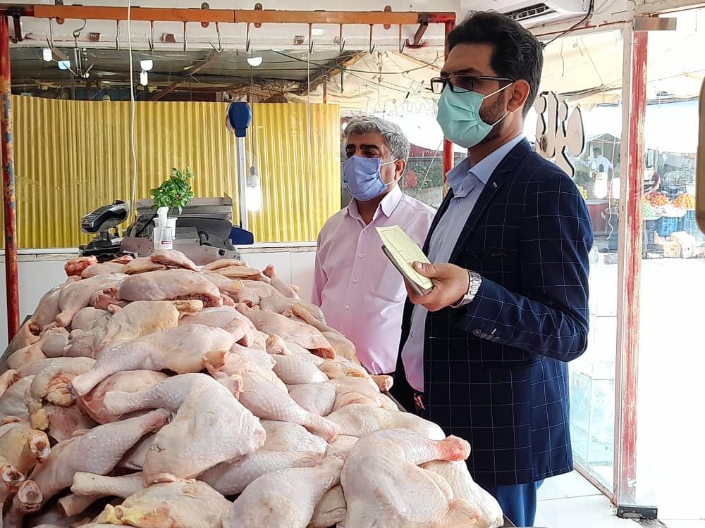 نظارت ویژه بازرسان و ناظران در توزیع مرغ گرم در استان